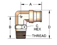 Male Swivel Elbow